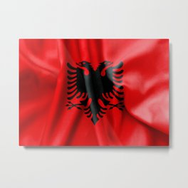 Albania Flag Metal Print
