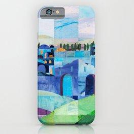 Jerusalem in Blue iPhone Case