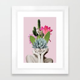 Cactus Lady Framed Art Print