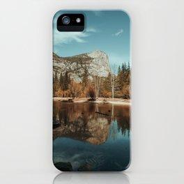 Mirror Lake in Yosemite National Park iPhone Case
