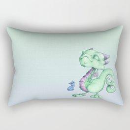Smug Little Dragon Rectangular Pillow