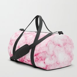 Red/Pink Marble Texture Pattern Duffle Bag