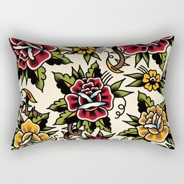 Flower tattoo Rectangular Pillow