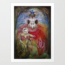The Surrogate Mother-Goddess of Wisdom holding Alter-Ego Baby Bogomil Art Print