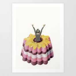 Blancmange Surprise Art Print