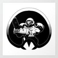 samus Art Prints featuring samus by ZombieBoJackson