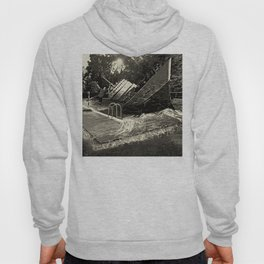 Sinking into the Pool Black and White Hoody