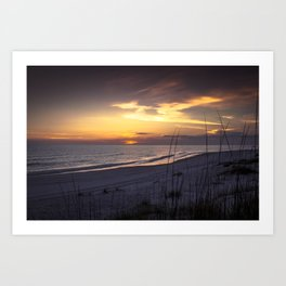 Cape San Blas Sunset  Art Print