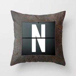 monogram schedule n Throw Pillow