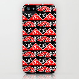 Kowhaiwhai Traditional Maori Koru Pattern iPhone Case