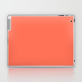 Simply Deep Coral Laptop & iPad Skin
