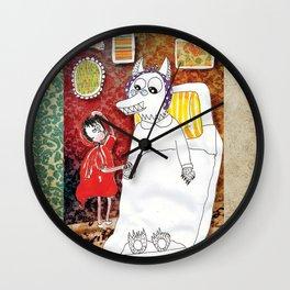 Girl & Wolf Wall Clock