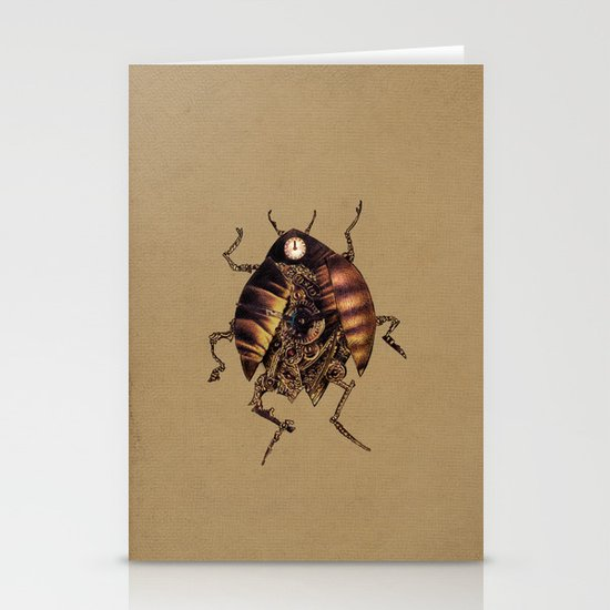 Clock Beetle Stationery Cards