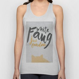 White Fang, Jack London book cover, poster, old classic, penguin book Unisex Tank Top