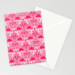 Flamingo Damask Stationery Cards