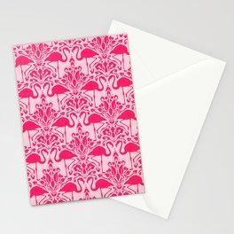 Flamingo Damask Stationery Cards