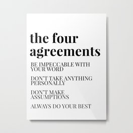 the four agreements Metal Print