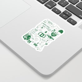 Dartmouth Massachusetts Print Sticker