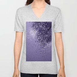 ULTRA VIOLET Glitter Dream #1 #shiny #decor #art #society6 Unisex V-Neck