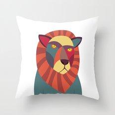 Hipster Lion Throw Pillow