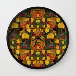 """Retro Gold Art Deco Pattern"" Wall Clock"