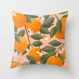 fresh citrus Throw Pillow