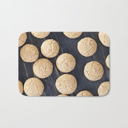 round small biscuits Bath Mat