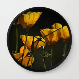 Yellow cups of sunshine Wall Clock