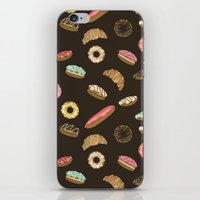 donuts iPhone & iPod Skins featuring Donuts by Julia Badeeva