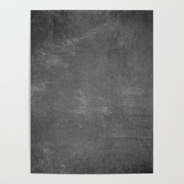 Gray and White School Chalk Board Poster