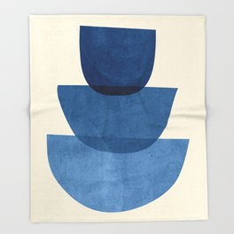 Abstract Shapes 37-Blue Throw Blanket