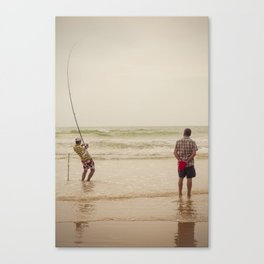 Pêche Canvas Print