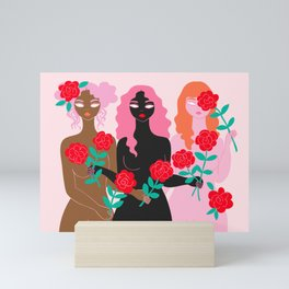 girl friends Mini Art Print