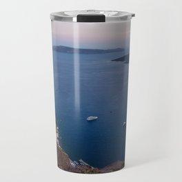 Sunset in Fira Santorini, Greece Travel Mug