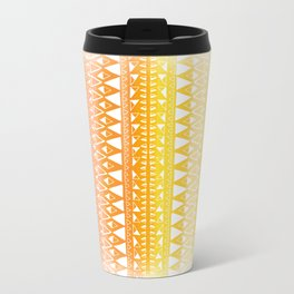 Triangle Gradient Gold Mix Travel Mug