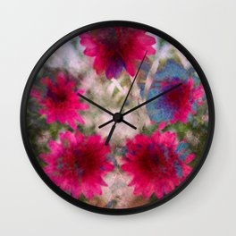 flowers abstract Wall Clock