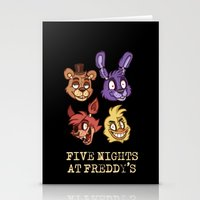 fnaf Stationery Cards featuring FNAF Five Nights At Freddy's by Kam-Fox