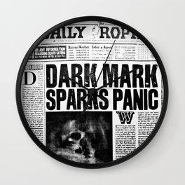 Daily Prophet newspaper Wall Clock