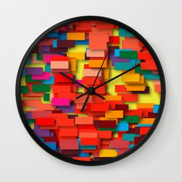 colored bricks Wall Clock