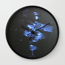 Doodle of light dancing on water Wall Clock