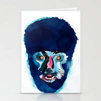 werewolf Stationery Cards featuring werewolf by Alvaro Tapia Hidalgo