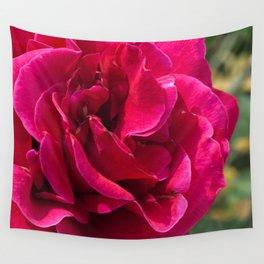 Ravishing Red Rose Close-up Art Photo Wall Tapestry