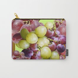 PURPLE & GREEN GRAPES VINEYARD PURPLE DESIGN Carry-All Pouch