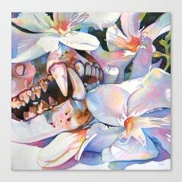white oleander Canvas Print