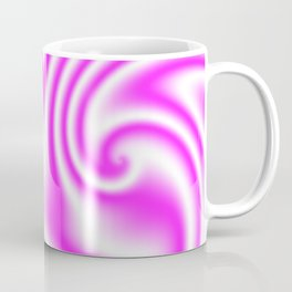 Raspberry Ribbon Candy Fractal Coffee Mug