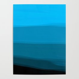Ombre in Blue Poster