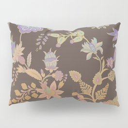 Chateau Brown Chinoiserie Decorative Floral Motif Chintz Pillow Sham