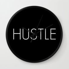 HUSTLE Wall Clock
