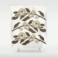 Magnolias Branch Shower Curtain