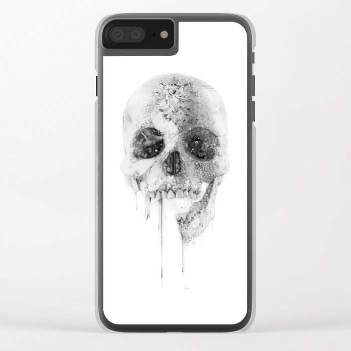 Crystal Skull Clear iPhone Case